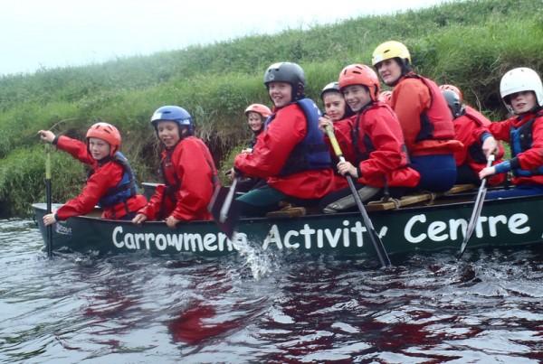 canoeing at carrowmena