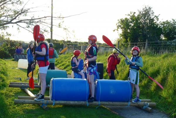 raft building at carrowmena
