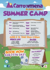 Carrrowmena action packed Summer Camp for ages 8 - 16 years