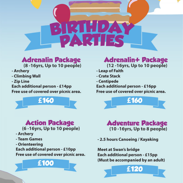 birthday party packages at carrowmena activity centre