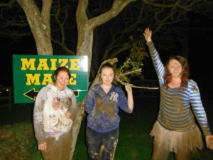 It can get mucky at the maize maze