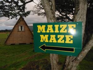 Maize Maze sign