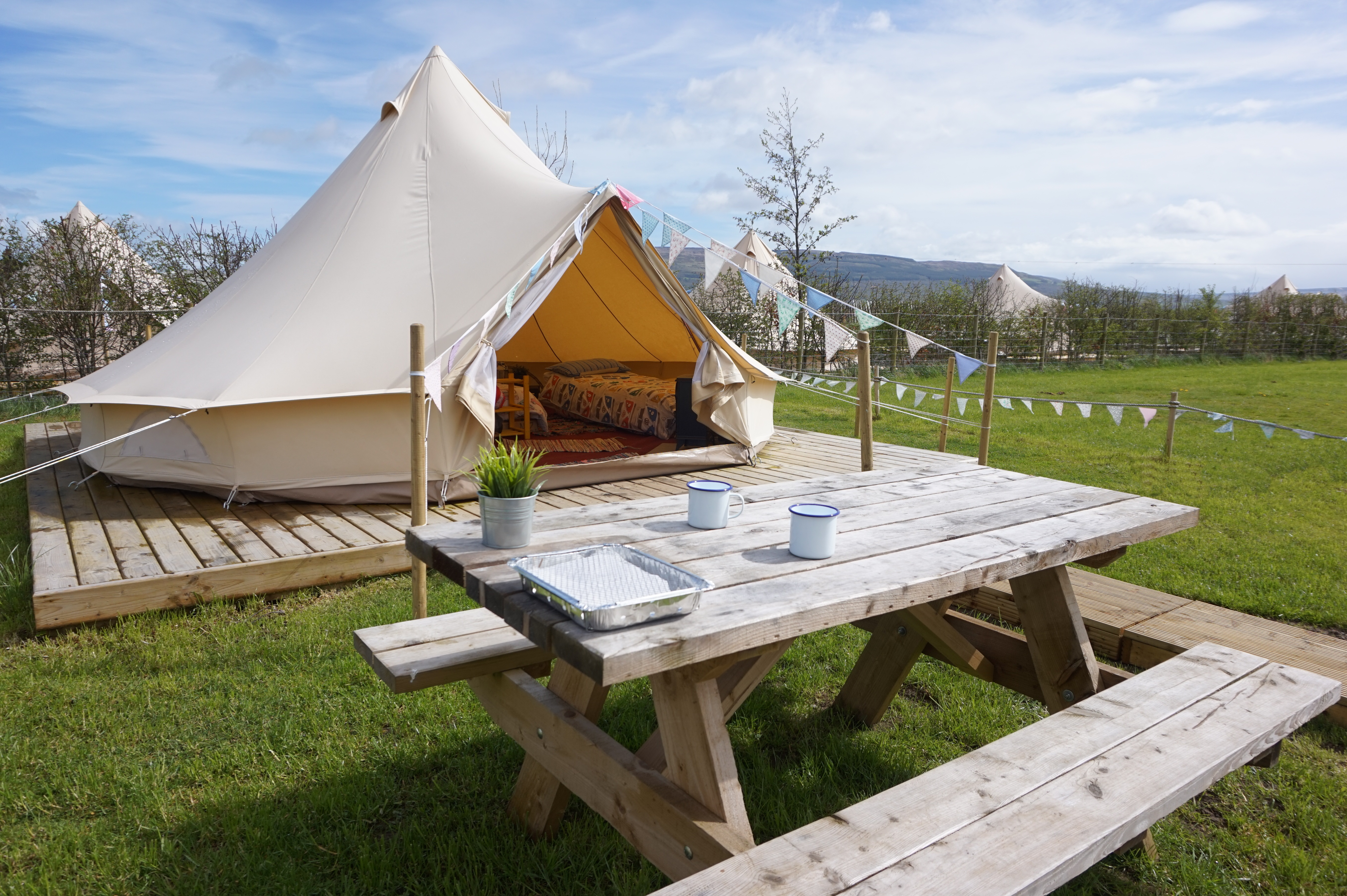10 x Luxury Bell Tents & Carrowmena - Bell Tents Glamping in Northern Ireland